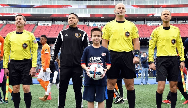 Jose Carlos Rivero (center left) will referee Philadelphia Union v New York City in MLS Week 7
