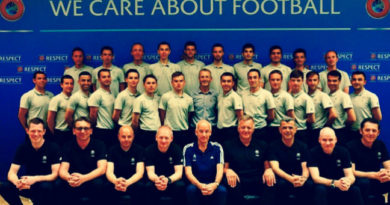 The team of officials on the UEFA CORE program