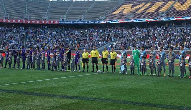 Pregame at Minnesota United v Orlando City