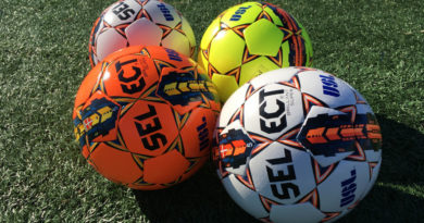 A selection of USL matchballs