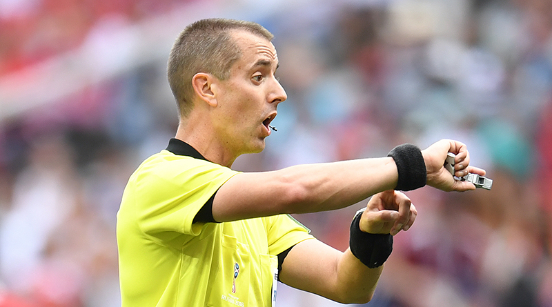 Referee Mark Geiger calls time on his on-field officiating career.