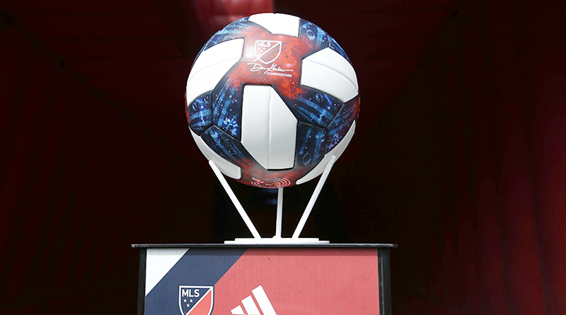 The game ball before the match between the Minnesota United FC and the New England Revolution at Gillette Stadium.