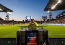 Referee Nima Saghafi reviews a play during an MLS game between the Toronto FC and San Jose Earthquakes at BMO Field.