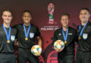 Kyle Atkins, Ismail Elfath, Alan Kelly and Corey Parkerafter the FIFA U-20 World Cup Final in Poland.