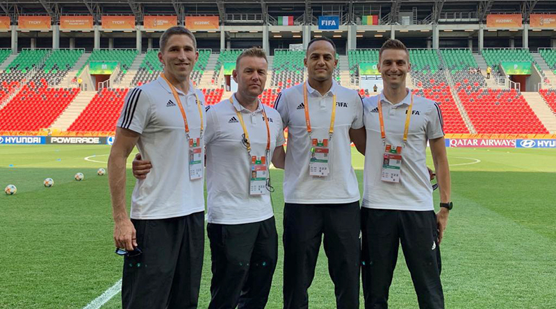 Corey Parker, Alan Kelly, Ismail Elfath and Kyle Atkins at the FIFA U-20 World Cup in Poland.