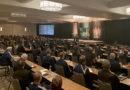Keynote speaker Bob Delaney addresses the audience during PRO's preseason camp in January 2020.