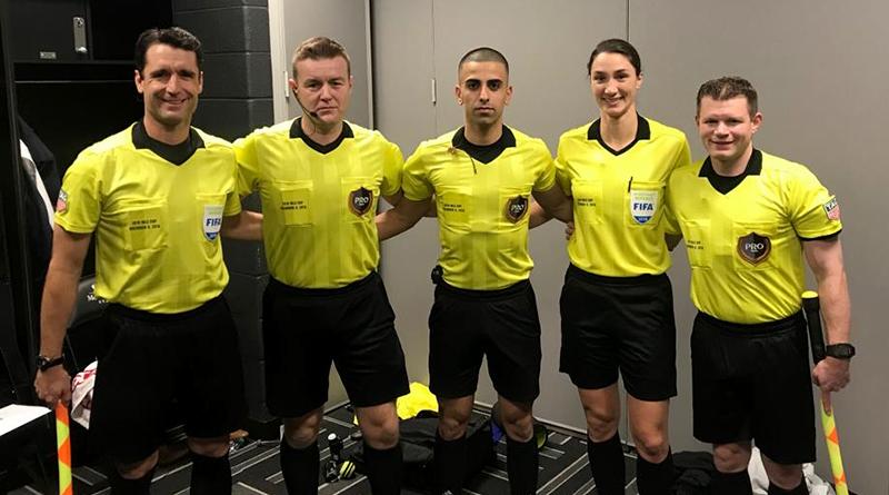 2018 MLS Cup crew: Ian Anderson, Alan Kelly, Nima Saghafi, Chris Penso, Kathryn Nesbitt and Eric Weisbrod.