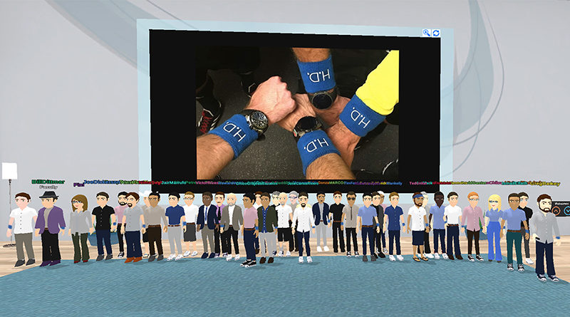 PRO officials show their support for Huntington's Disease Awareness Month at a virtual camp.