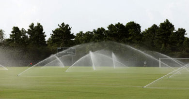 The fields at ESPN Wide World of Sports being watered