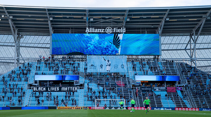 PRO officials preparing for an MLS game at Allianz Field