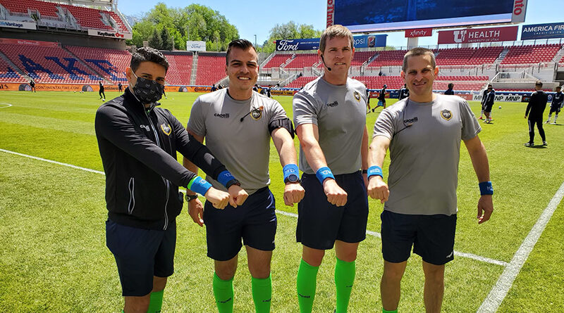 PRO officials show their support for Huntington's Disease Awareness Month.