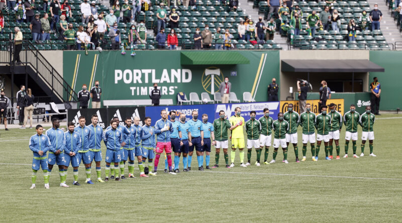 PRO crew lining up for Portland Timbers vs Seattle Sounders